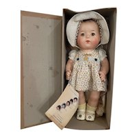 """Minty 1937 Madame Alexander 11 1/2"""" Dionne Quintuplet Doll Annette Mint in Box"""