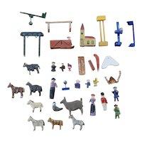 Vintage Miniature Erzberger Wooden Doll Lot
