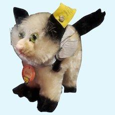 """1950's Steiff 4"""" Mohair Gussie Kitty Cat all I.D."""
