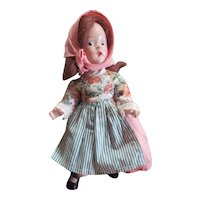 """1930's Madame Alexander 9"""" Composition Peasant Doll"""