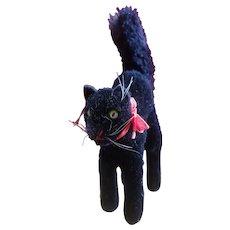 1950's Steiff Black Scaredy Cat