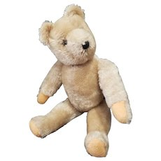 "Vintage 14 1/4"" Mohair Teddy Bear with Felt Pads"