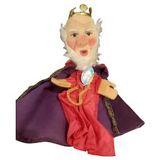 Vintage Kersa Cloth King Puppet Doll with Orignal Label
