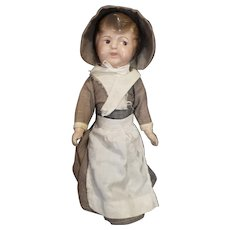 Adorable 1920's Composition Pilgrim Doll 14""