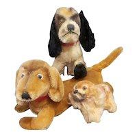Vintage 1950's Steiff Mohair Dog Lot