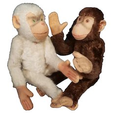 1950's Steiff Monkey Chimpanzee Lot Doll Companions 7""