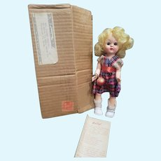 "Vintage 8"" Py-O-MY Patty Walker Doll in Orig1nal Mailer Box"