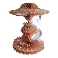 Precious Vintage Honeycomb Crepe Paper Valentine for Doll Display