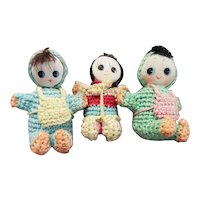 Cute Vintage Mini Knit Japanese DOlls for Doll Display