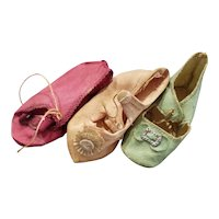 Vintage German or French Doll Shoe Lot
