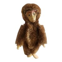 """Vintage Schuco Miniature Jointed Mohair Monkey 3 1/2"""""""