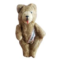 "Vintage Germany German Googly Eye Tongue Out Teddy Bear 7"""