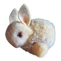 "Adorable Vintage Steiff 1 1/2"" Wooly Pom Pom Rabbit with Glass Eyes"