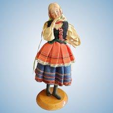Cute Vintage Ethnic Doll on Base
