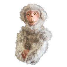 Interesting Vintage Paper Mache Face Monkey Toy