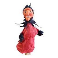 "Interesting Vintage Felt Devil Puppet Doll 11"""