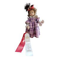 Vintage Italy Italian Felt Magiurin Doll with Tag