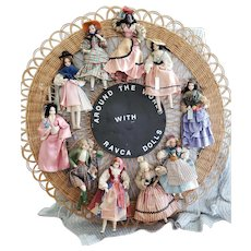 Neat 1940's Around the World with Ravca Dolls Hanging Display