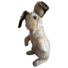 1950's Steiff Grand Size Mohair Rabbit with Jointed Arms