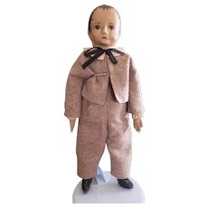 "1985 Judy Tasch 19"" Izannah Walker Type Nathaniel  Doll 19"""