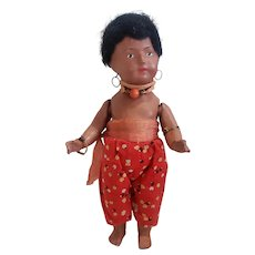 "Wonderful 10"" Composition Islander Doll All Original"