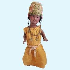 """Vintage Heubach Koppelsdorf 12 1/2"""" Moroccan Woman Doll"""