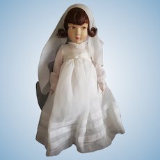 "Beautiful Vintage French Raynal 19"" Communion Doll"