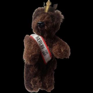 """Vintage 2 1/2"""" Brown Germany Berlin Teddy Bear Pin"""