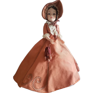 "1968 Madame Alexander 21"" Jacqueline Portrait Melanie Doll"