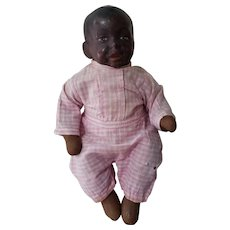 Interesting Early 1900's Composition Head Baby Bumps Doll with Cloth Body 11""