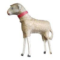 "Vintage 4 1/2"" Matchstick Wool Sheep Doll Companion"