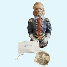"Kathy Redmond UFDC Artist General George Custer 7"" Doll Bust"
