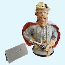 "Vintage Kathy Redmond 7 1/2"" Bisque General Robert E. Lee Doll Bust"