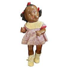 "Adorable 11"" Composition Toddler Baby Doll All Original"