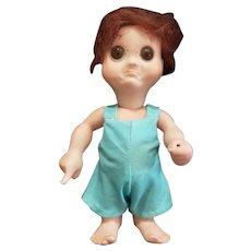 """1974 NIADA Doll Artist Fred Thompson All Bisque Googly Doll 5 1/2"""""""