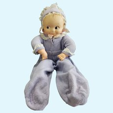 """Large 1960's Cameo 18 1/2"""" Vinyl Hinged Body Kewpie Baby Doll"""