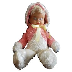 1950's Rubber Face Trudy Three Faced Doll Cuddly!