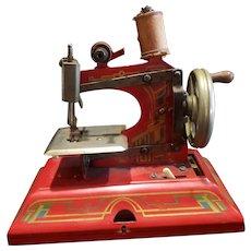 Vintage Germany Casige Metal Toy Doll Sewing Machine