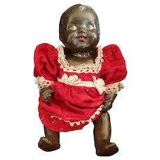 """Vintage Terra Cotta and Composition Baby Doll 12 1/2"""""""