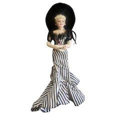 "Vintage 1940's Bernard Ravca Mae West Needle Sculpted Doll 9"""