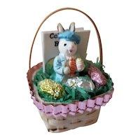 Adorable Dollhouse Doll Miniature Easter Basket