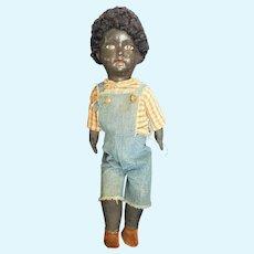 "Wonderful 16 1/2"" Paper Mache head Doll with Cloth Body"
