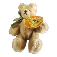 """Vintage Miniature Teddy Bear Artist 2 3/4"""" Mohair Teddy Bear"""