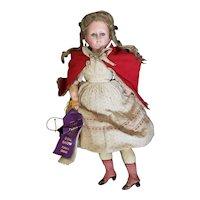 "Antique 20"" Wax over composition/Paper Mache Sleep Eye Doll"