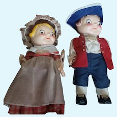 """Vintage 10"""" Vinyl Campbell's Bicentennial Doll Set in Boxes"""