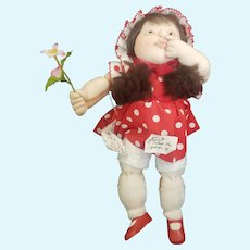 1982 Adorable Artist Dorothy Tate I Picked This just For You Soft Sculpture Doll