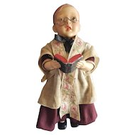 Interesting Vintage Composition Choir Boy Doll