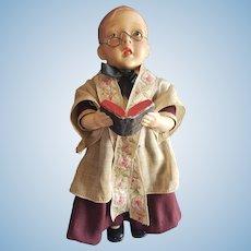 Interesting Vintage Composition Choir Boy Doll