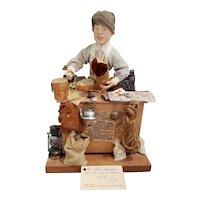 Vintage Doll Artist Linda Adair Mercantile Man Doll Display