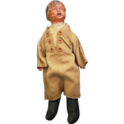 """Early Madame Hendron Composition Head Doll 13"""""""